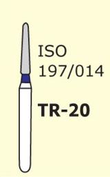 Бор конус с закругленным концом Mani TR-20 3 шт