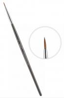 Кисть для керамики East Rich Kolinsky №0 круглая ручка ER2AC0