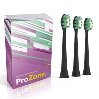 Насадки для электрической зубной щетки Lebond ProZone VibroPower Black, 3 шт