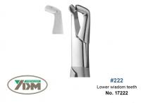 Щипцы YDM для удаления №222 (нижние зубы мудрости)