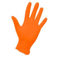 Перчатки нитриловые оранжевые 100 шт