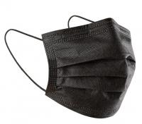 Медицинские маски (3-х слойные) черные (50 шт)