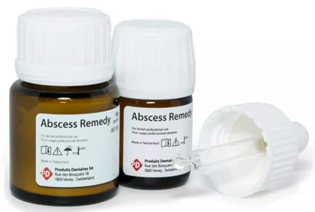 Материал для обтурации корневых каналов PD Abscess remedy (Абсцесс ремеди) с дексаметазоном 15 г + 15 г