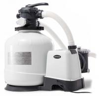 Песочный фильтр-насос комбинированный с хлоргенератором INTEX 26676 ( 6 тис. л\ч; хлор 7 гр)