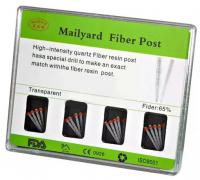 Штифты стекловолоконные Mailyyard Fiber Post (конические, прозрачные)