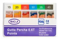 Штифты гуттаперчевые конусные SCJ конус - 06 (60 шт)
