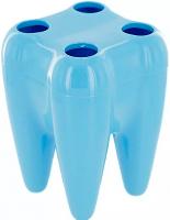 Подставка YS-015 (для зубных щеток) голубая